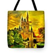 Cinderella Castle - Van Gogh Style Tote Bag