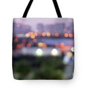 City Lights Bokeh Night Abstract Tote Bag