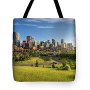 City Skyline Of Calgary, Canada Tote Bag