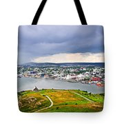 Cityscape Of Saint John's From Signal Hill Tote Bag