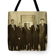 Civil Rights Leaders And President Kennedy 1963 Tote Bag