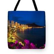Classic Waikiki Nightime Tote Bag by Tomas del Amo - Printscapes