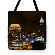 Colorful Sky Above The City On The Shore Tote Bag
