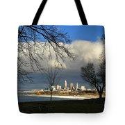 Cleveland Winter Dawn Tote Bag