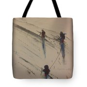 Three Climbers Tote Bag by Gregory Dallum