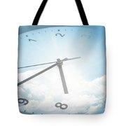 Clock In Sky 2 Tote Bag