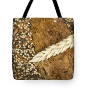 Close Up Bread And Wheat Cereal Crops Tote Bag