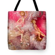Close-up Of Toys On Christmas Tree Tote Bag
