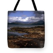 Cloud Passing Across The Cuillin Main Ridge And Bla Bheinn From Tokavaig Sleat Isle Of Skye Scotland Tote Bag
