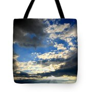 Clouded Sun Rays Tote Bag