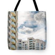 Clouds And Buildings Tote Bag