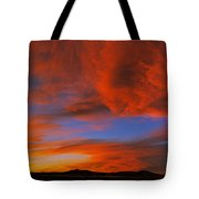 Clouds In The Sky At Sunset, Taos, Taos Tote Bag