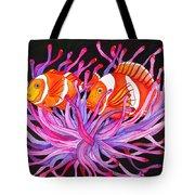 Clownfish And Sea Anenome  Tote Bag