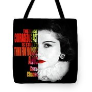 5fa5cd3569ae Coco Chanel Motivational Inspirational Quote 2 - By Diana Van Tote Bag