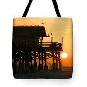 Cocoa Beach Pier/sunrise Tote Bag