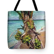 Coconuts On Beach Tote Bag