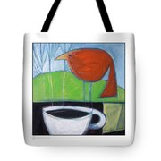 Coffee With Red Bird Tote Bag
