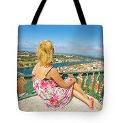 Coimbra Cityscape Woman Tote Bag