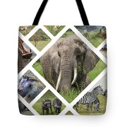 Collage Of Animals From Tanzania  Tote Bag