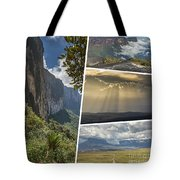 Collage Of Table Mountain Roraima Tote Bag