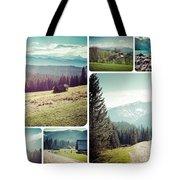 Collage Of Tatra Mountains Tote Bag