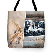 Collage Of Winter Grass Tote Bag