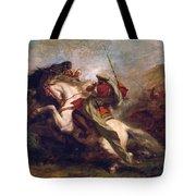Collision Of Moorish Horsemen Tote Bag