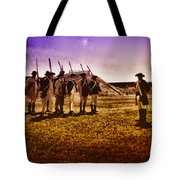 Colonial Soldiers At Fort Mifflin Tote Bag