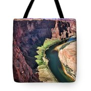 Colorado River Flows Around Horseshoe Bend  Tote Bag