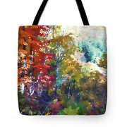 Colorful Autumn Trees In Forest Tote Bag