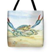 Colorful Blue Crab Tote Bag