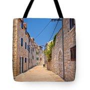 Colorful Mediterranean Stone Street Of Prvic Island Tote Bag