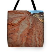 Colorful Sandstone Wave In Valley Of Fire Tote Bag