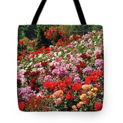 Colorful Spring Rose Garden Tote Bag