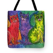 Colourful Cats Tote Bag