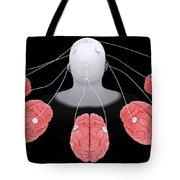 Conceptual Image Of Multi-brain Tote Bag