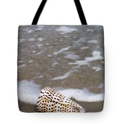Cone Seashell On The Beach. Tote Bag