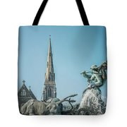 Copenhagen Gefion Fountain Tote Bag
