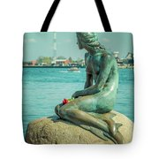 Copenhagen Little Mermaid Tote Bag