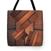 Copper Plate Abstract Tote Bag