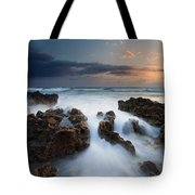 Coral Cove Dawn Tote Bag