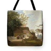 Cottage Scenery Tote Bag