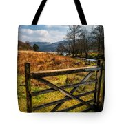 Countryside Gate Tote Bag