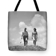 Couple Out Golfing, C.1930s Tote Bag