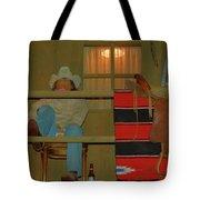 Cowboy On Porch Tote Bag