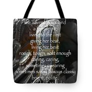 Cowgirl Attitude Tote Bag by Gwyn Newcombe