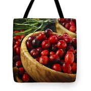 Cranberries In Bowls Tote Bag