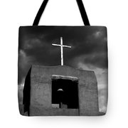 Cross And Bell Tote Bag