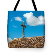 Cross And Tiled Roof Tote Bag
