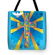 Cross With Dove Tote Bag